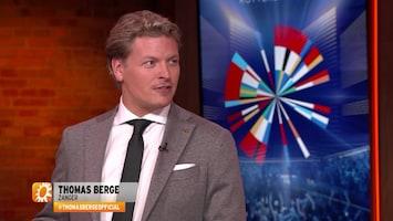 Thomas Berge: 'Ik ging bijna naar songfestival dit jaar'