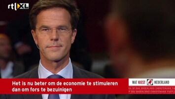 RTL Nieuws Felle discussie over banen tussen Roemer en Rutte