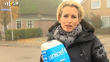 RTL Boulevard Anouk Smulders collecteert voor UNICEF
