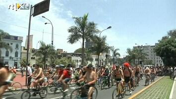 RTL Nieuws Fietsers protesteren tegen roekeloos rijden