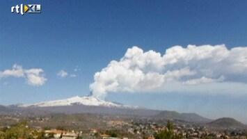 RTL Nieuws Vulkaan Etna spuwt rook
