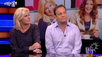RTL Boulevard Carlo en Irene aan de desk over TV Kantine