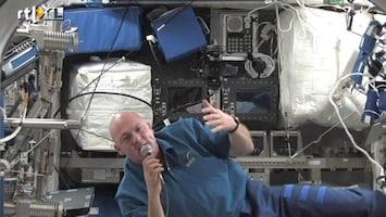RTL Nieuws Videogesprek met Kuipers in de ruimte