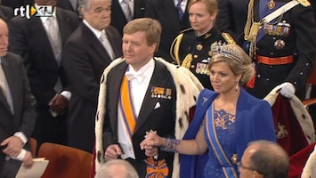 RTL Nieuws Jan Taminiau trots als een pauw op jurk Máxima
