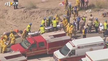RTL Nieuws Vijftig gewonden bij busongeluk Californië