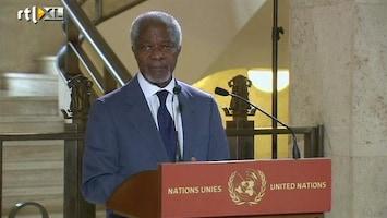 RTL Nieuws Kofi Annan wil nieuw vredesplan voor Syrië