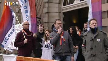 RTL Nieuws Verplegers bezetten Sarphatihuis
