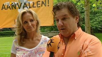 RTL Boulevard Oranjefeestje bij René en Natasja Froger