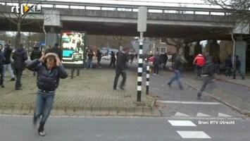 RTL Nieuws Zware voetbalrellen na Utrecht-Twente