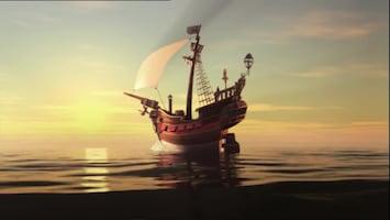 Piet Piraat Storm op zee
