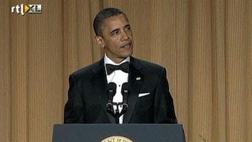 RTL Nieuws Obama grapt op correspondentengala