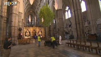 RTL Nieuws Westminster Abbey versierd met bomen