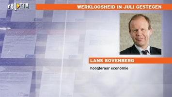 RTL Nieuws Werkloosheid gestegen in juli