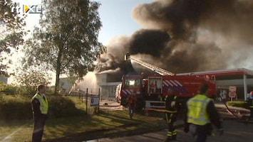 RTL Nieuws Grote brand in garage Wanssum