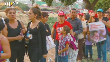 RTL Nieuws Lange rijen voor Chavez