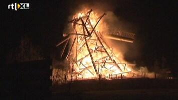 RTL Nieuws Historische molen verwoest