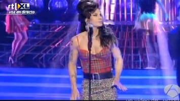 RTL Boulevard Julio Iglesias jr. treedt op als Amy Winehouse
