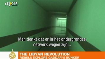 RTL Nieuws Geheime tunnels onder complex Khadaffi