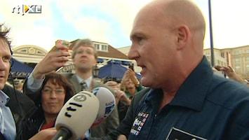 RTL Nieuws André Kuipers warm onthaald in Noordwijk