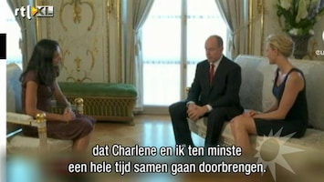 RTL Boulevard Albert en Charlene (te?) kalm over trouwdag