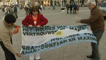 RTL Nieuws Ook Argentijnse Máximafans bij inhuldiging