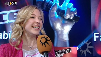 RTL Boulevard The Voice Kids Fabienne gehuldigd