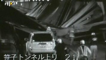 RTL Nieuws Tunnel in Japan ingestort; drie doden, zeven vermisten