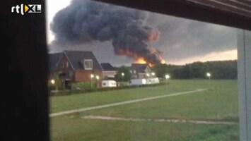 RTL Nieuws Eerste beelden brand Zevenaar