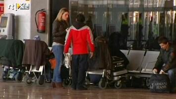 RTL Nieuws Vliegveld Madrid bevolkt door werklozen