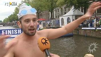 RTL Boulevard Ruud Feltkamp doet City Swim op dooie akkertje