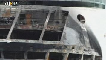 RTL Nieuws Vakantie in water na brand op cruiseschip