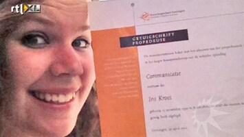 RTL Boulevard Iris Kroes haalt propedeuse