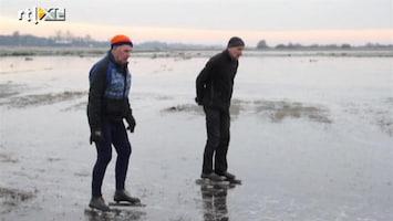 RTL Nieuws Eerste waaghalzen al op op het ijs bij Ryptsjerk