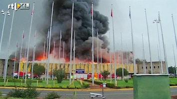 RTL Nieuws 'Binnen half uur de hele aankomsthal in vlammen'