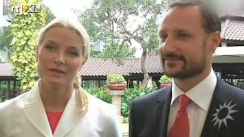 RTL Boulevard Haakon en Mette-Marit in Indonesie