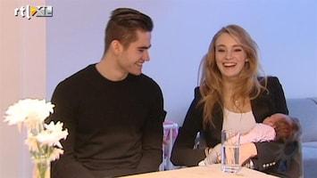 RTL Boulevard Ymre en Wouter dolgelukkig met dochter