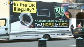 RTL Nieuws Opschudding Engeland over arrestatie illegale immigranten.