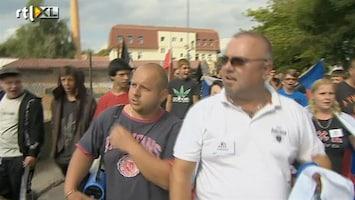 RTL Nieuws Tsjechen demonstreren tegen Roma