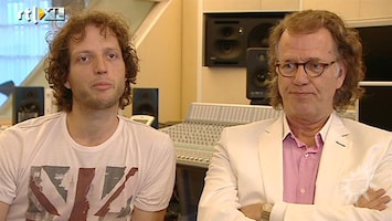RTL Boulevard Andre en Pierre Rieu maken tekenfilmpjes