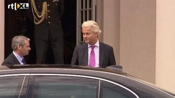 RTL Nieuws Wilders op audiëntie bij de Koning