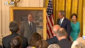 RTL Nieuws Bush onthult eigen portret in Witte Huis