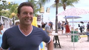 RTL Boulevard Gerard Joling doet commercial op Curacao