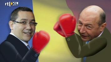 RTL Nieuws Gevecht president en premier Roemenië