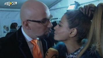 RTL Boulevard Onderonsje Maik de Boer en Olcay Gulsen op Fashion Week