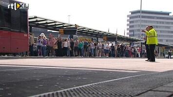 RTL Nieuws Topdrukte, maar geen treinen naar Schiphol