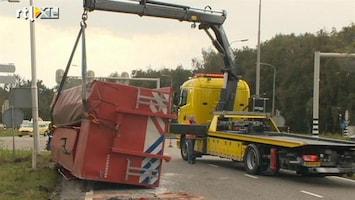 RTL Nieuws Brandweerwagen gekanteld