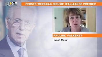 RTL Nieuws 'Italianen bang voor maatregelen Monti'