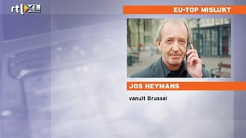 RTL Nieuws Jos Heymans: geen verrassing dat EU-top mislukt