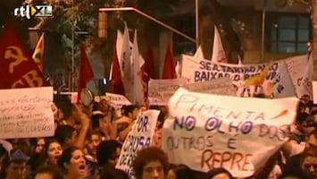 RTL Nieuws Brazilianen protesteren massaal tegen regering