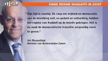 RTL Nieuws 'Tijd Khadaffi is voorbij'